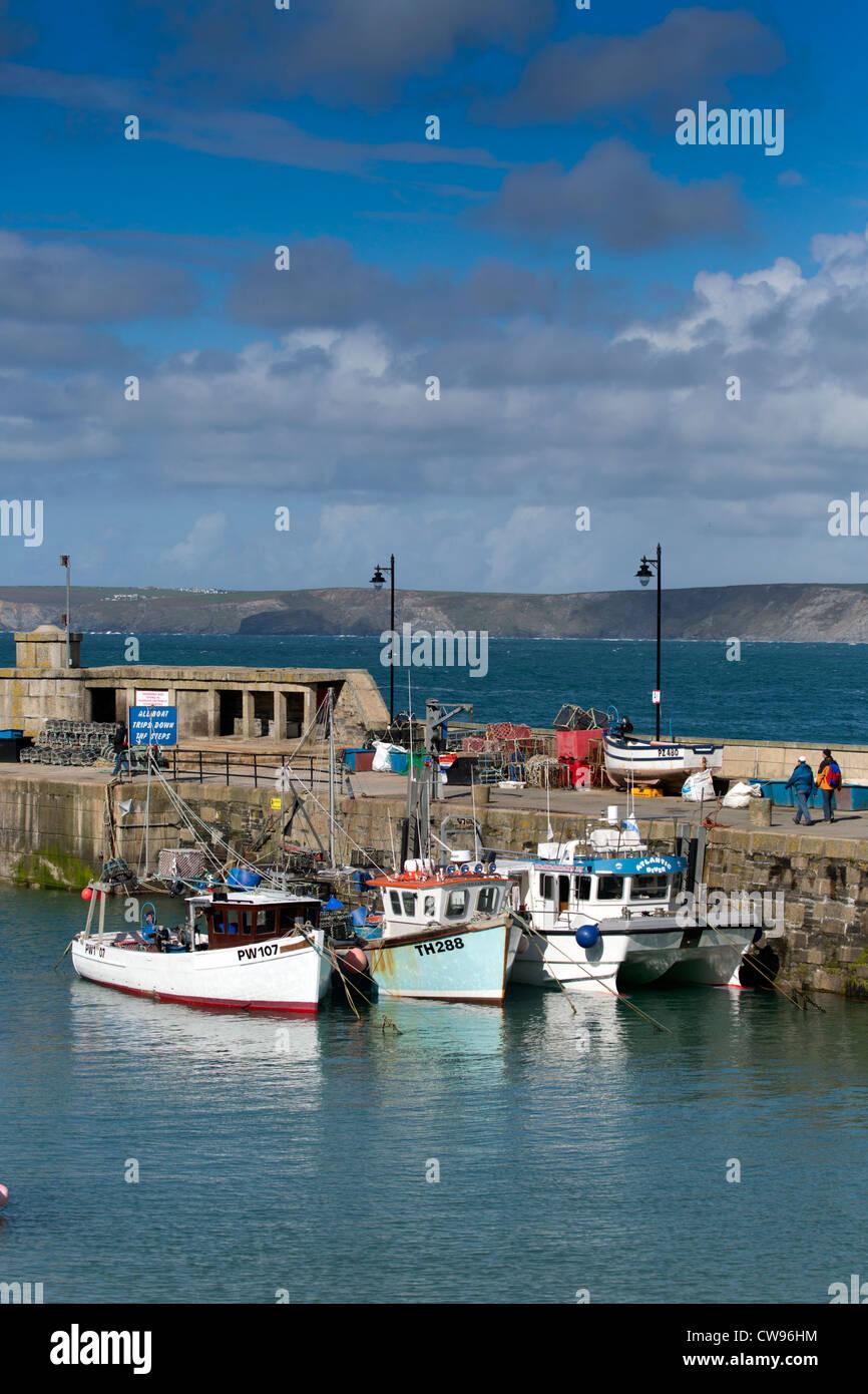 Newquay Harbour; Cornwall; UK - Stock Image