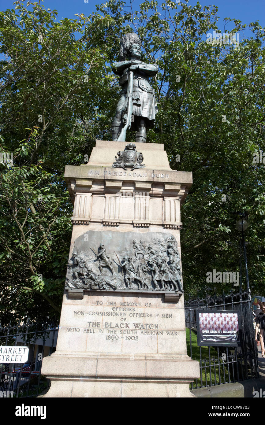 black watch boer war memorial on the mound edinburgh scotland uk united kingdom - Stock Image