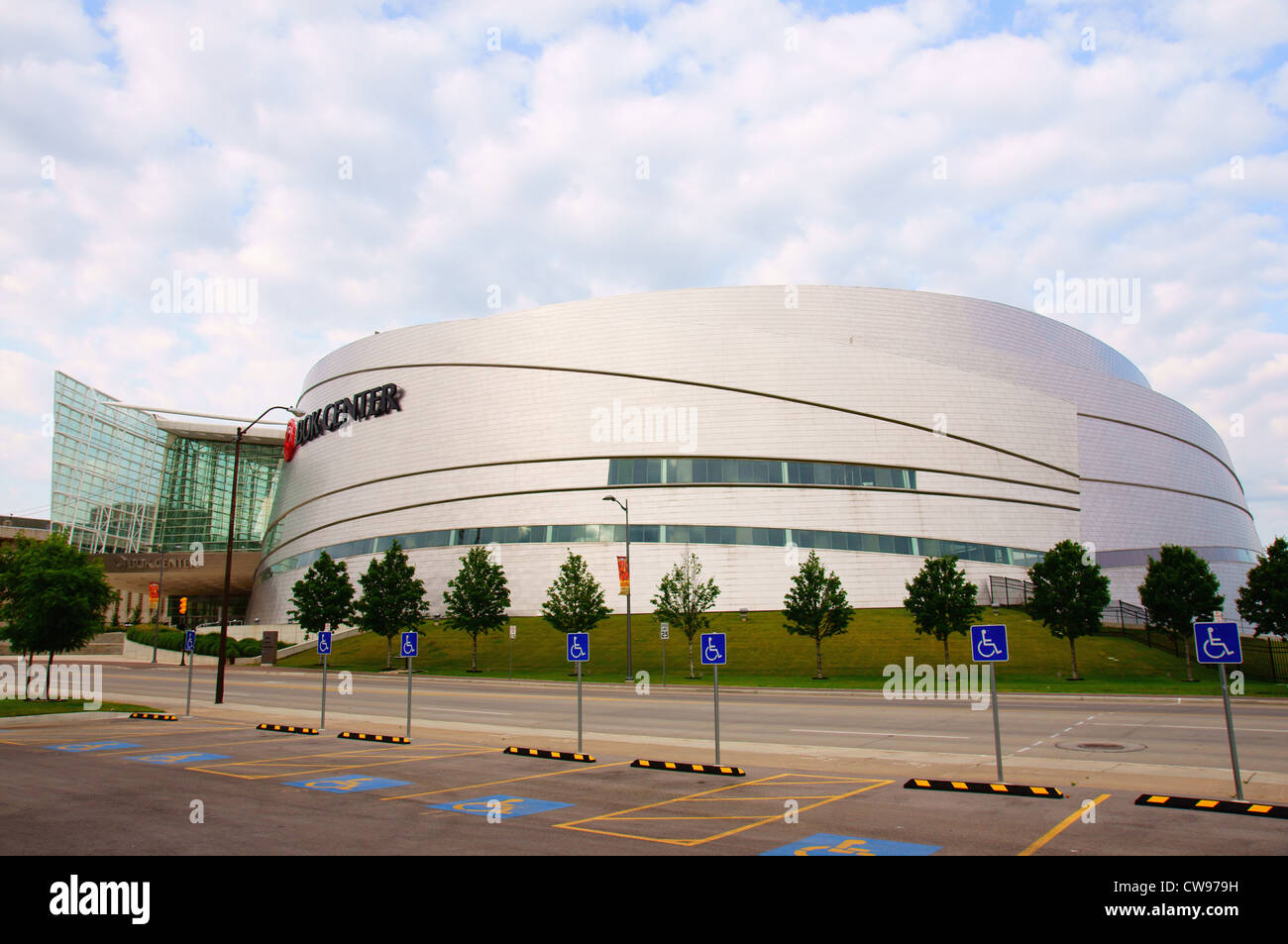 bok convention center tulsa ok architecture assembly balance beauty building composition construction contour - Stock Image