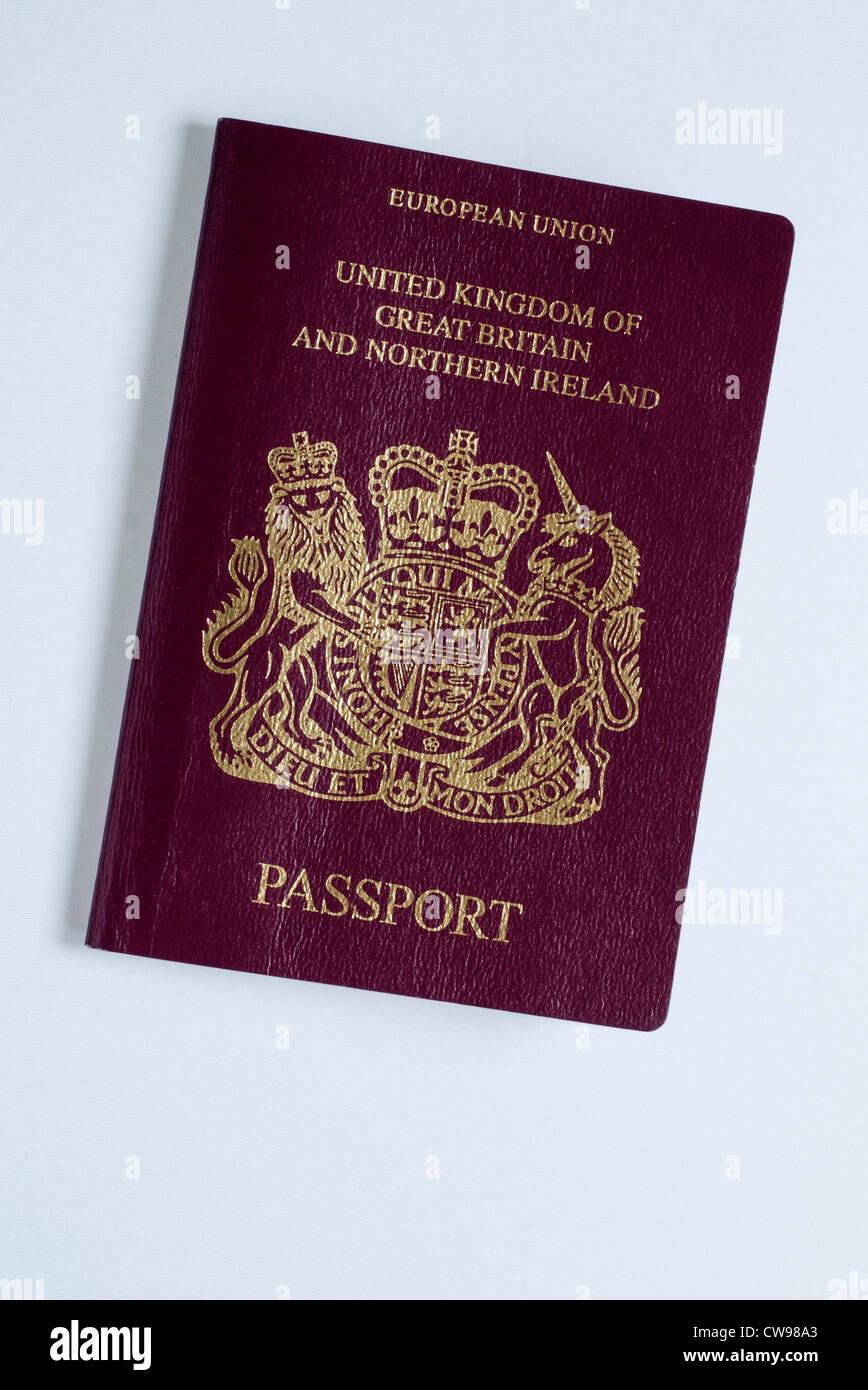 British Passport, European Union - Stock Image