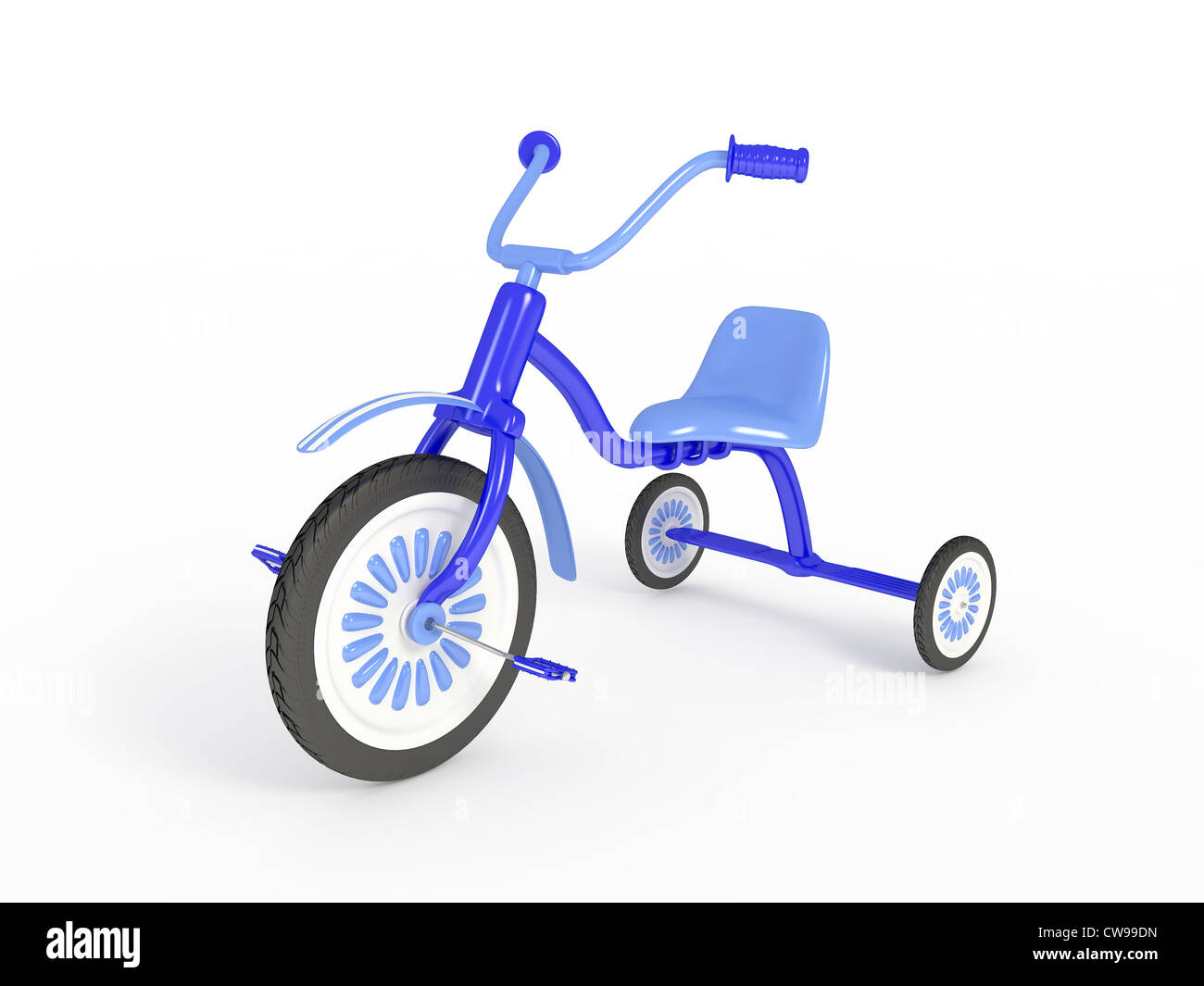 Blue tricycle - Stock Image
