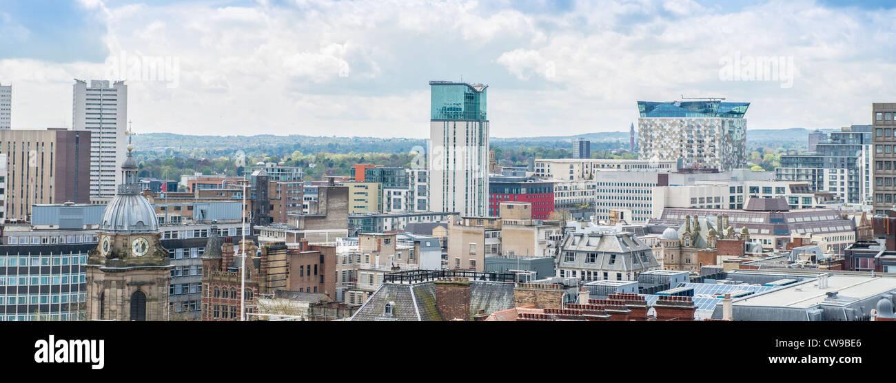 Aerial photo of the Birmingham city centre skyline. West Midlands, England. - Stock Image