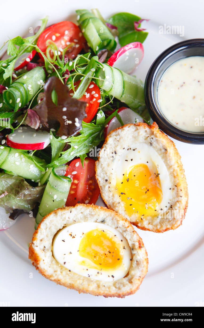 Scotch egg meal - Stock Image