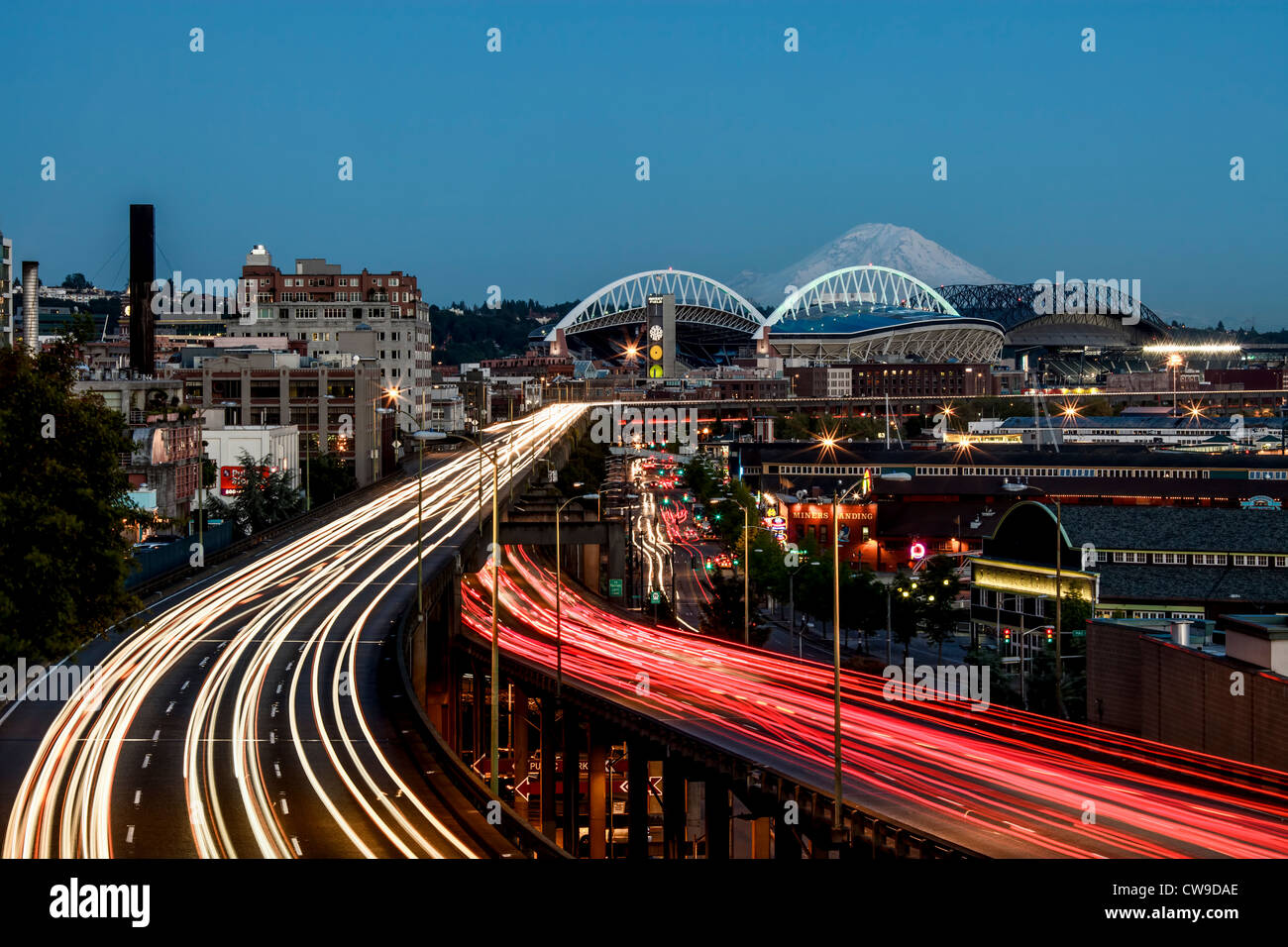 Seattle waterfront - Stock Image