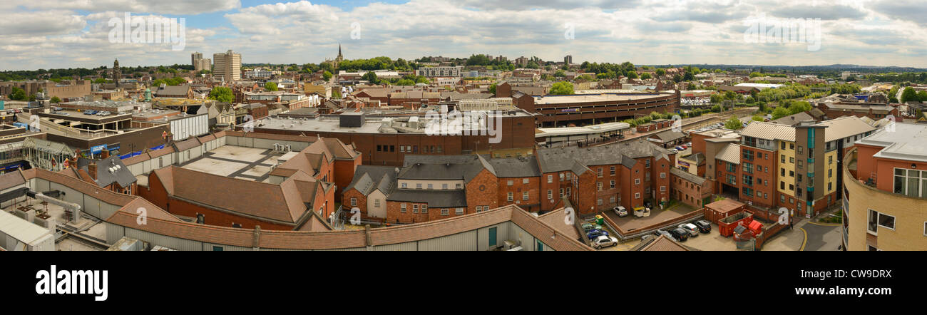 Panormaic of Walsall, West Midlands - Stock Image