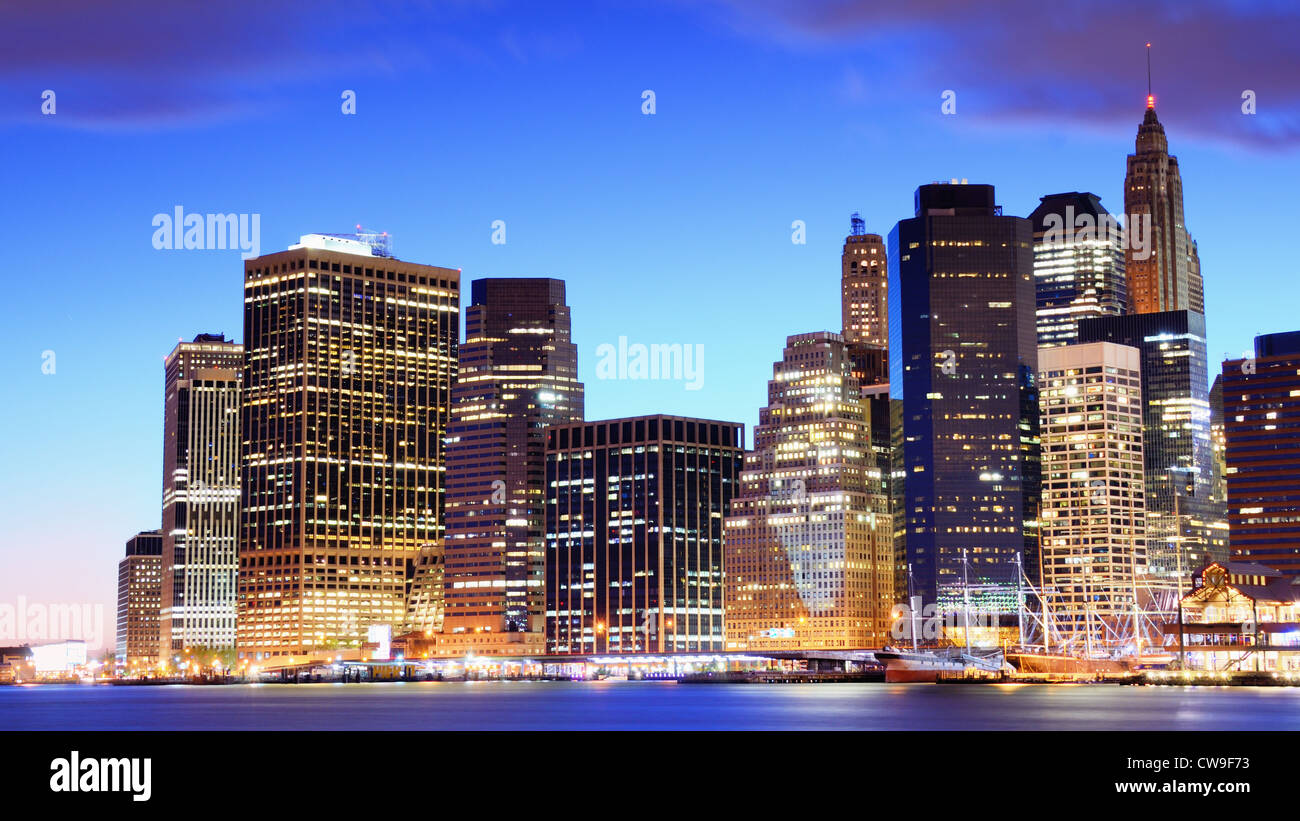 View of Downtown New York City - Stock Image
