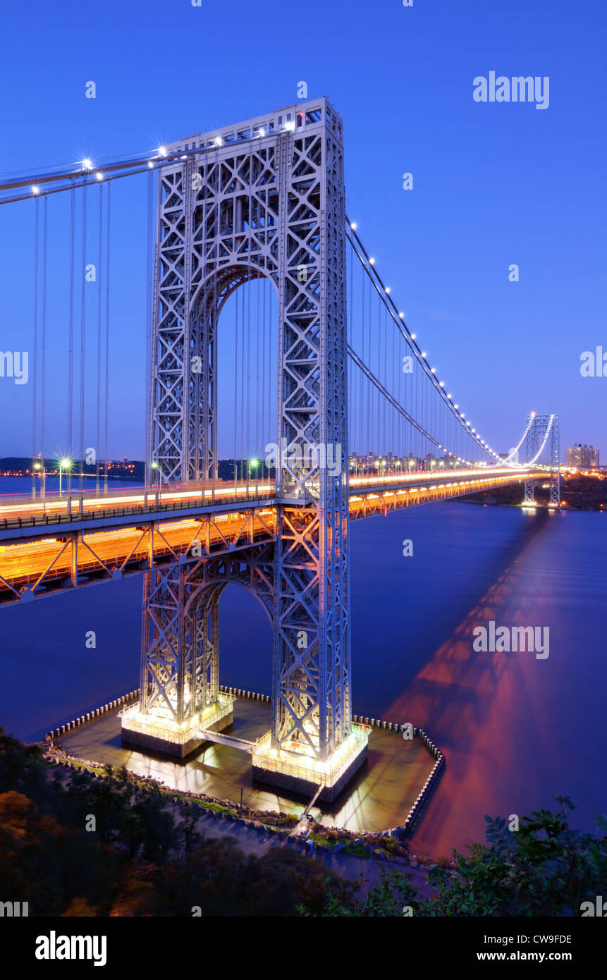 George Washington Bridge. - Stock Image