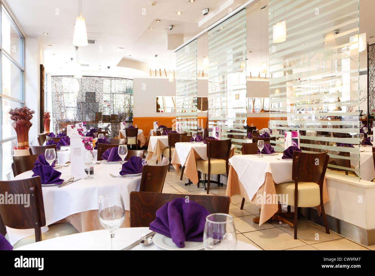 Thai Edge restaurant, Brindleyplace, Birmingham, West Midlands, England, UK - Stock Image