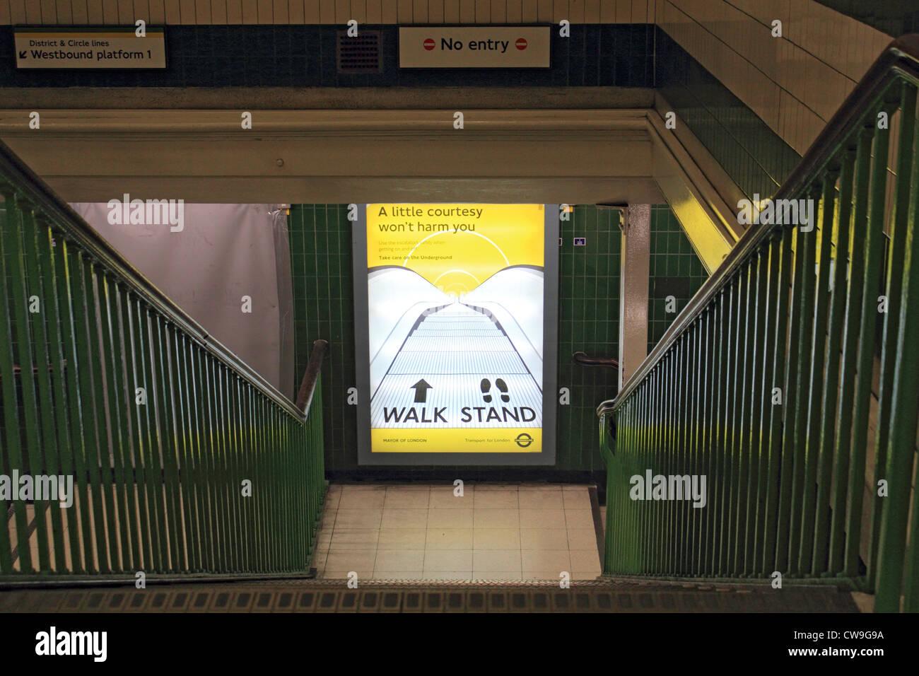 Temple Underground Station London England UK - Stock Image