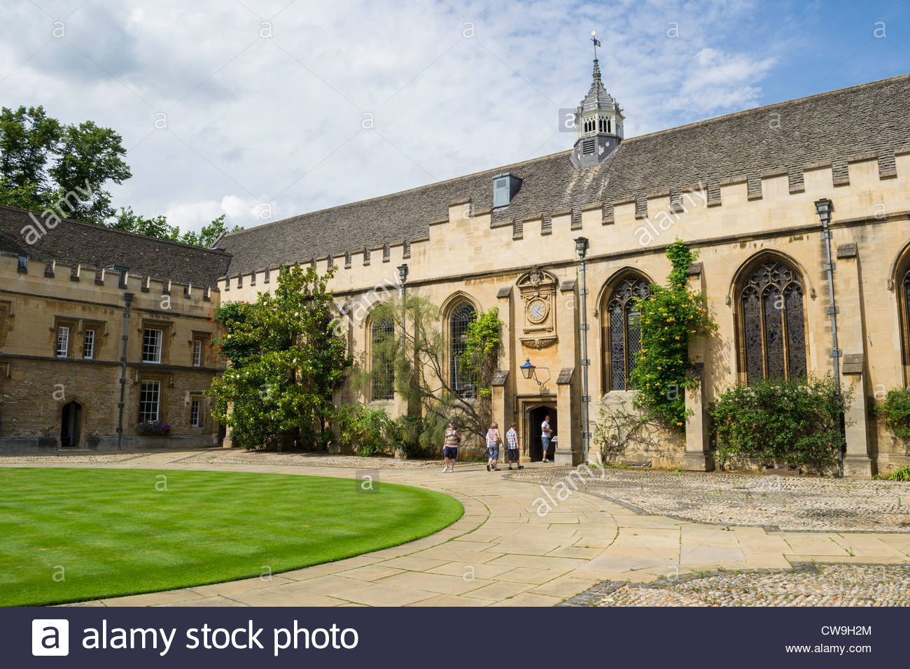 Front Quad, St. Johns College, Oxford - Stock Image