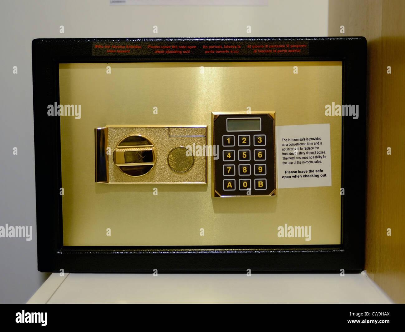 Hotel safe - Stock Image