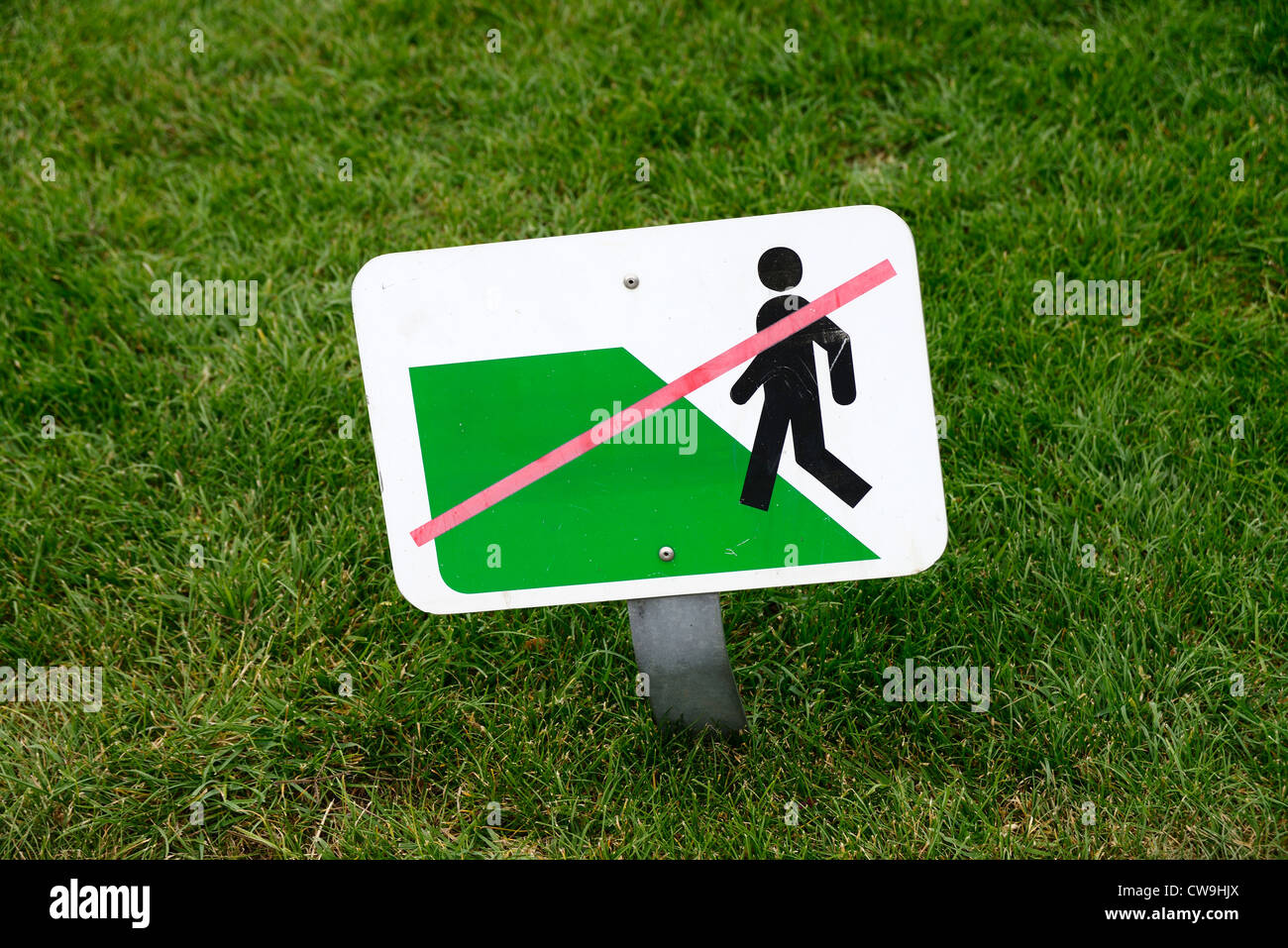 Stay off the grass! - Stock Image