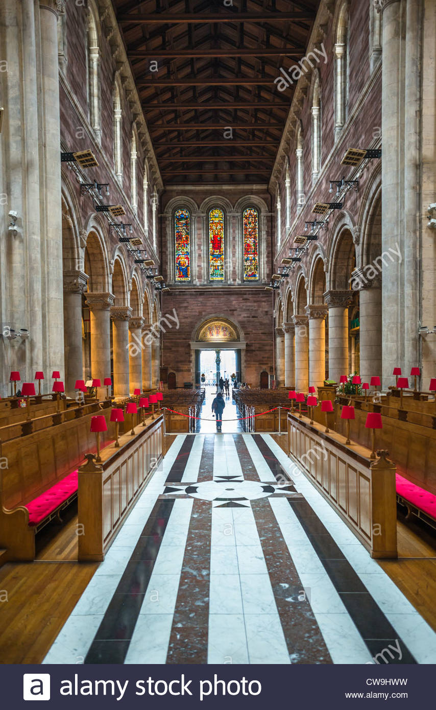 St Annes Cathedral interior, Cathedral Quarter, Belfast, Northern Ireland. - Stock Image