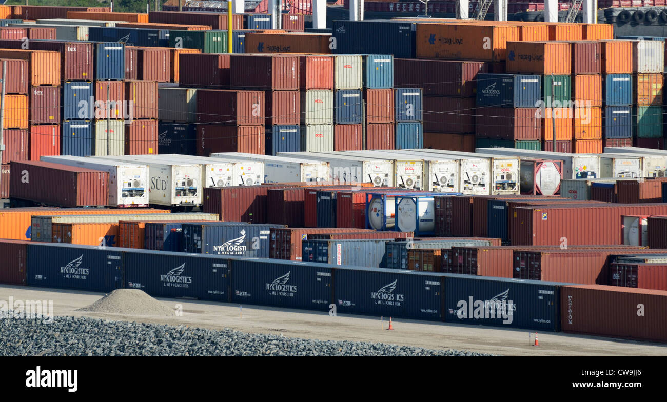 Shipping containers, Bayonne, New Jersey - Stock Image