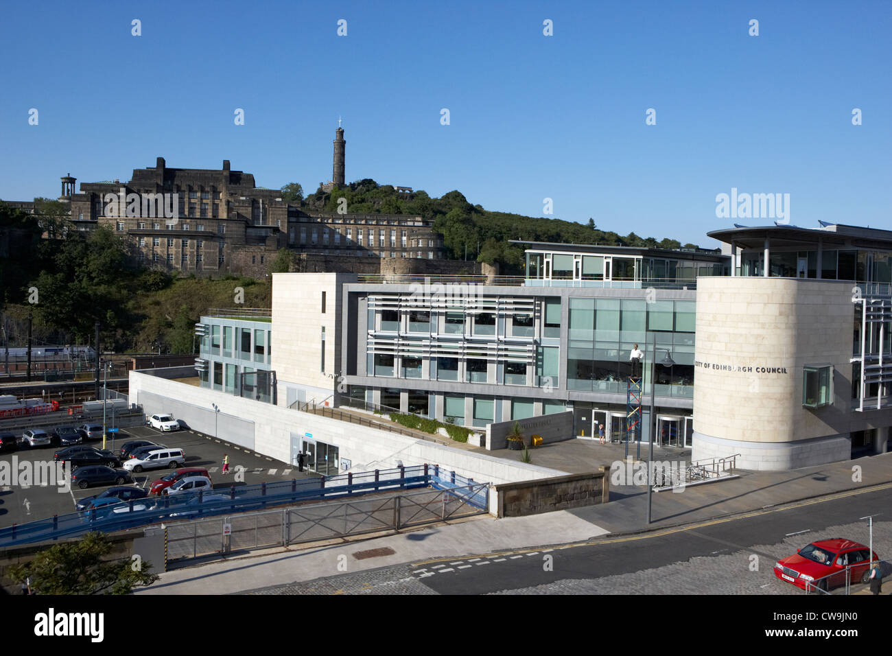 city of edinburgh council administrative headquarters waverley court edinburgh scotland uk united kingdom - Stock Image