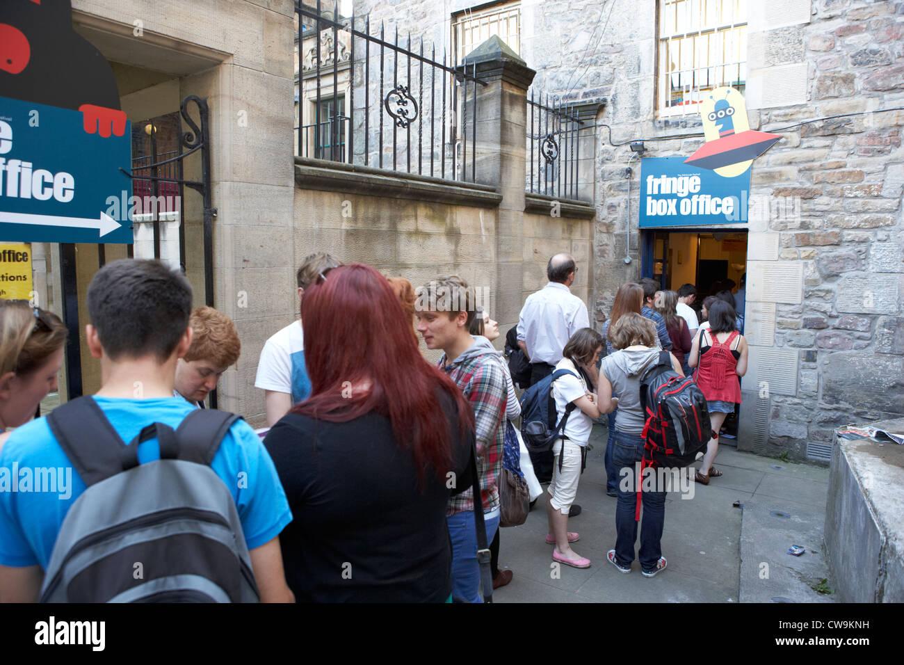 edinburgh fringe festival box office. People Queuing At The Edinburgh Fringe Festival Box Office Scotland Uk United Kingdom - Stock Image U