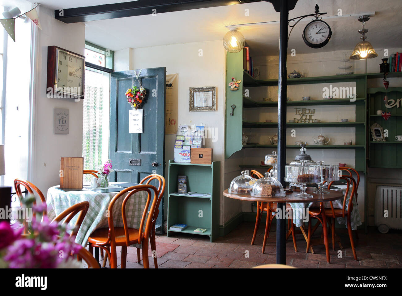 Tea shop in Heydon, Norfolk, UK - Stock Image