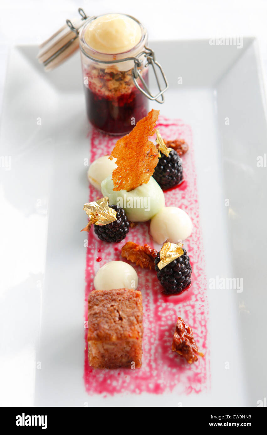 Dessert from Loves restaurant, Birmingham, West Midlands, England, UK - Stock Image