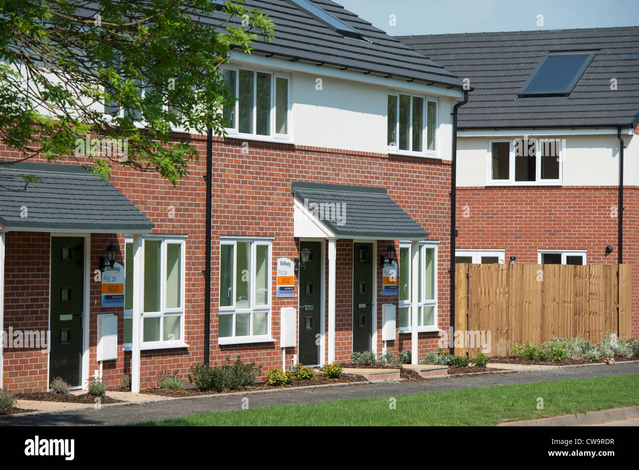 Housing in North Solihull. - Stock Image