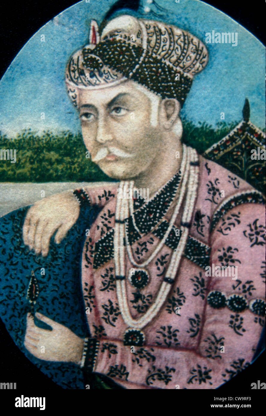 Mughal emperor Jalal ud-Din Akbar - Stock Image