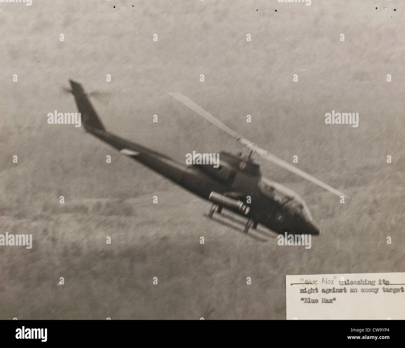 2/20th Aerial Rocket Artillery Blue Max, 1st Cavalry Division huey cobra gunships vietnam war 1969 Quan Loi Stock Photo