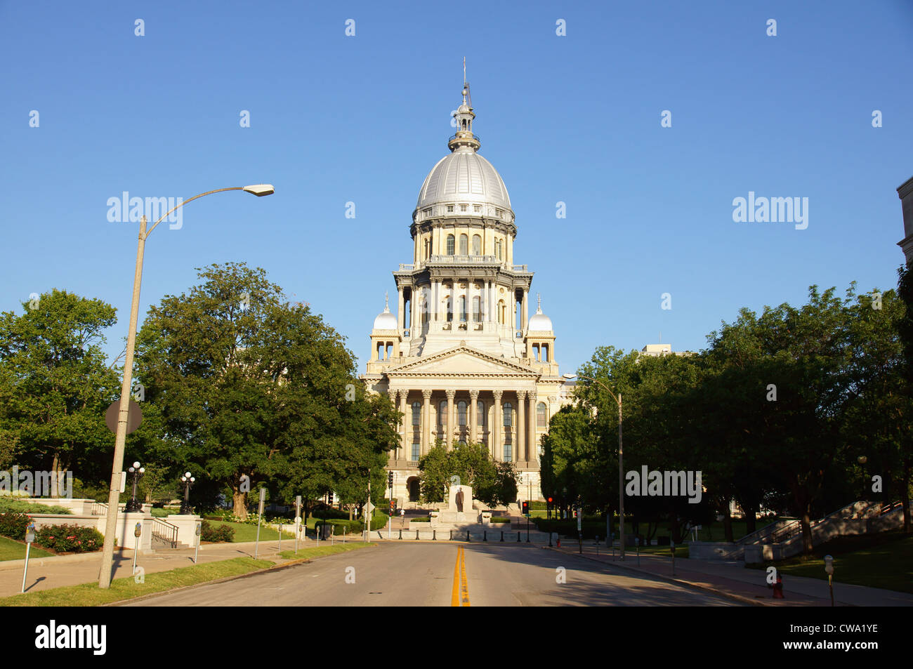 capitol building springfield illinois capital seat of government buildings housing chief governmental offices - Stock Image