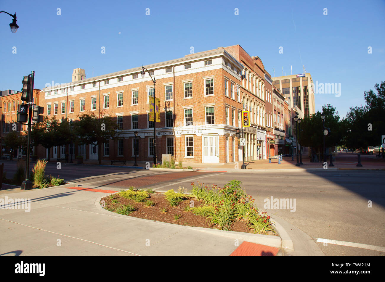 abraham lincoln herndon presidential law office springfield illinois lincoln-herndon offices state historic - Stock Image