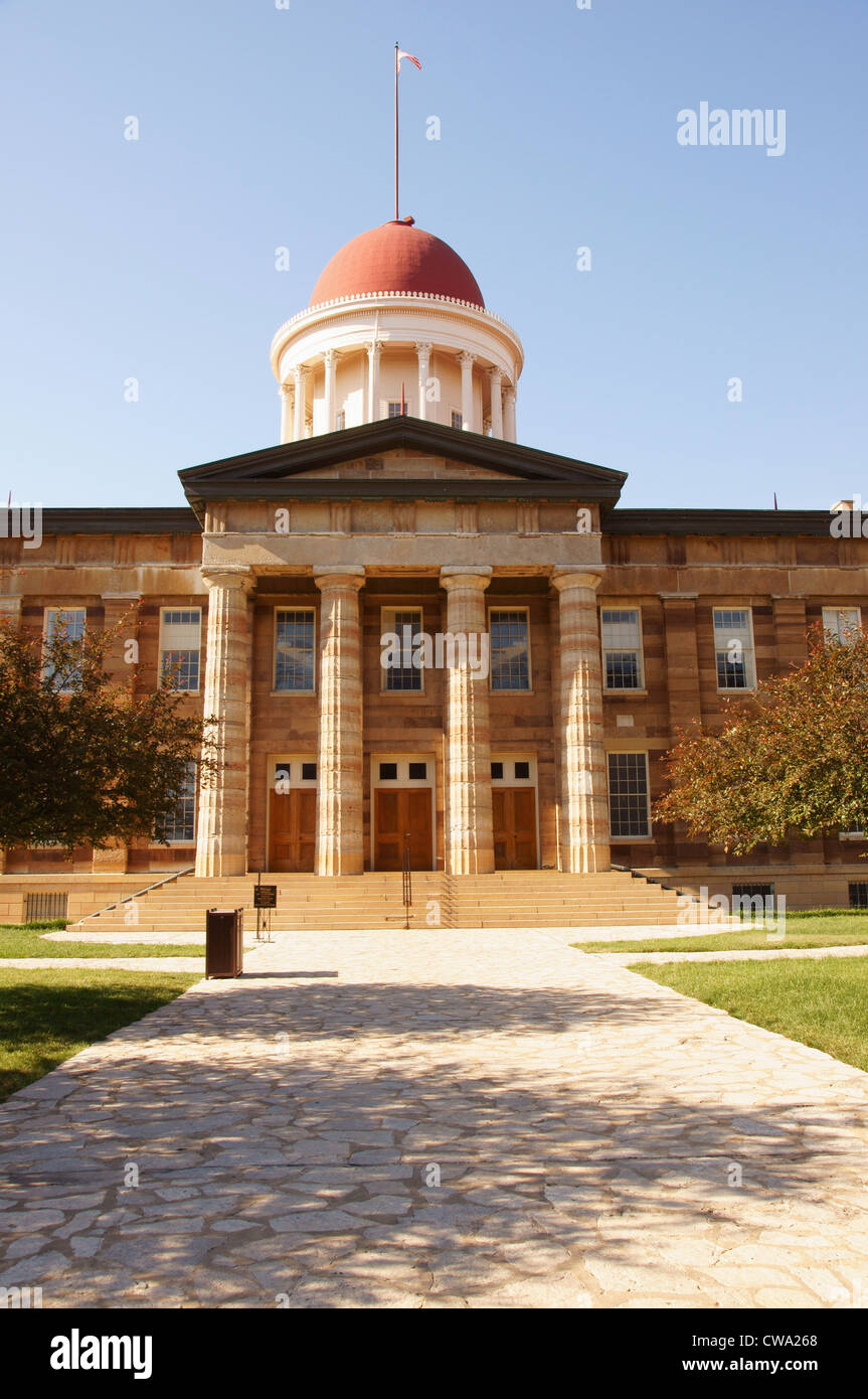 old capitol building springfield illinois old-fashioned fashioned antiquarian archaic classic obsolete olden - Stock Image