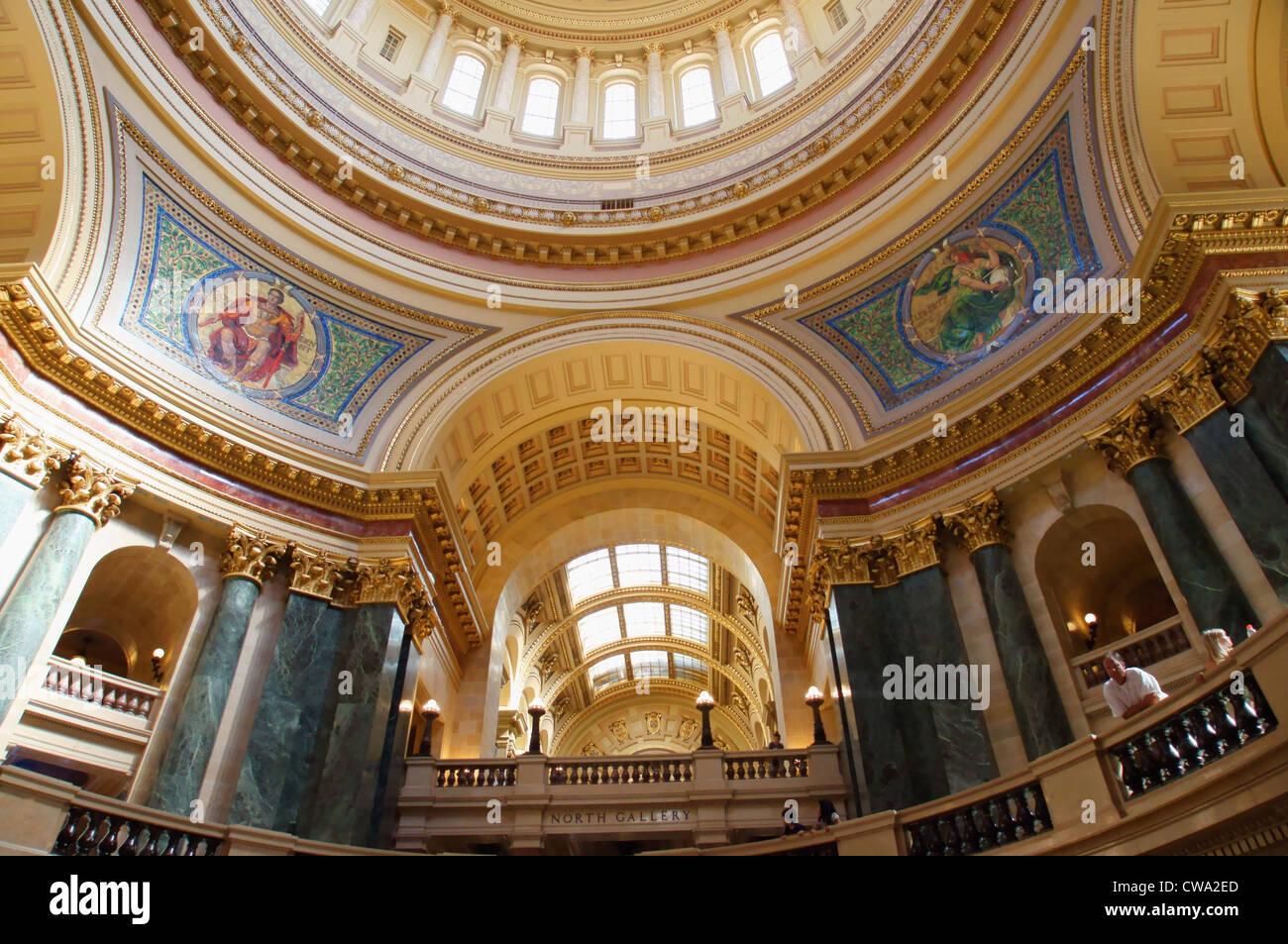 Capitol Building Interior Madison Wisconsin Wi Closeup Dome Cupola Stock Photo 50008629 Alamy