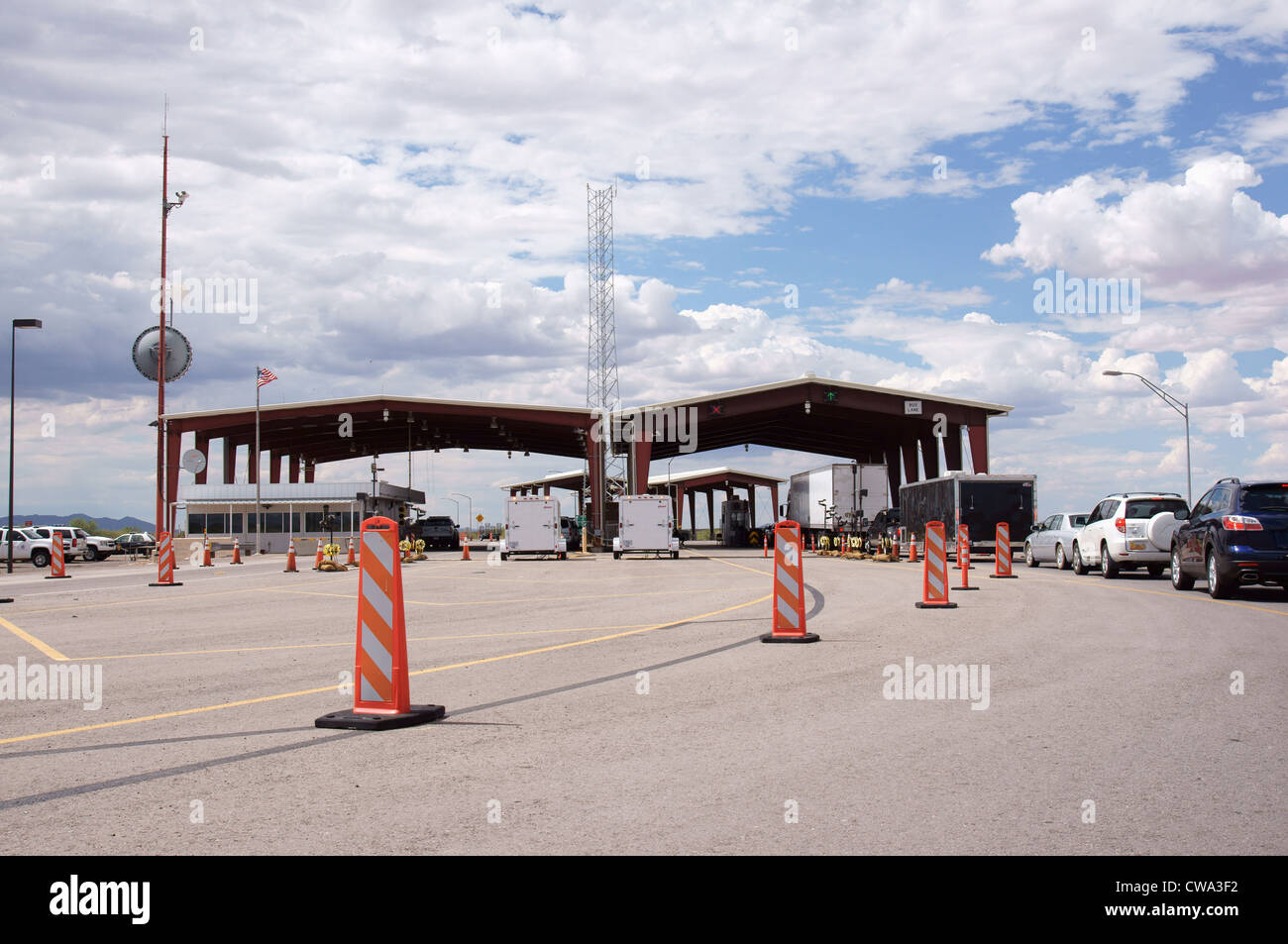 ins inspection station las cruces new mexico nm hispanic latino immigration naturalization service border - Stock Image