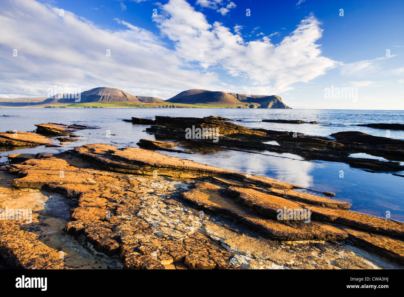 Orkney Isles. Hoy from Warebeth on Mainland Orkney, Scotland, UK - Stock Image