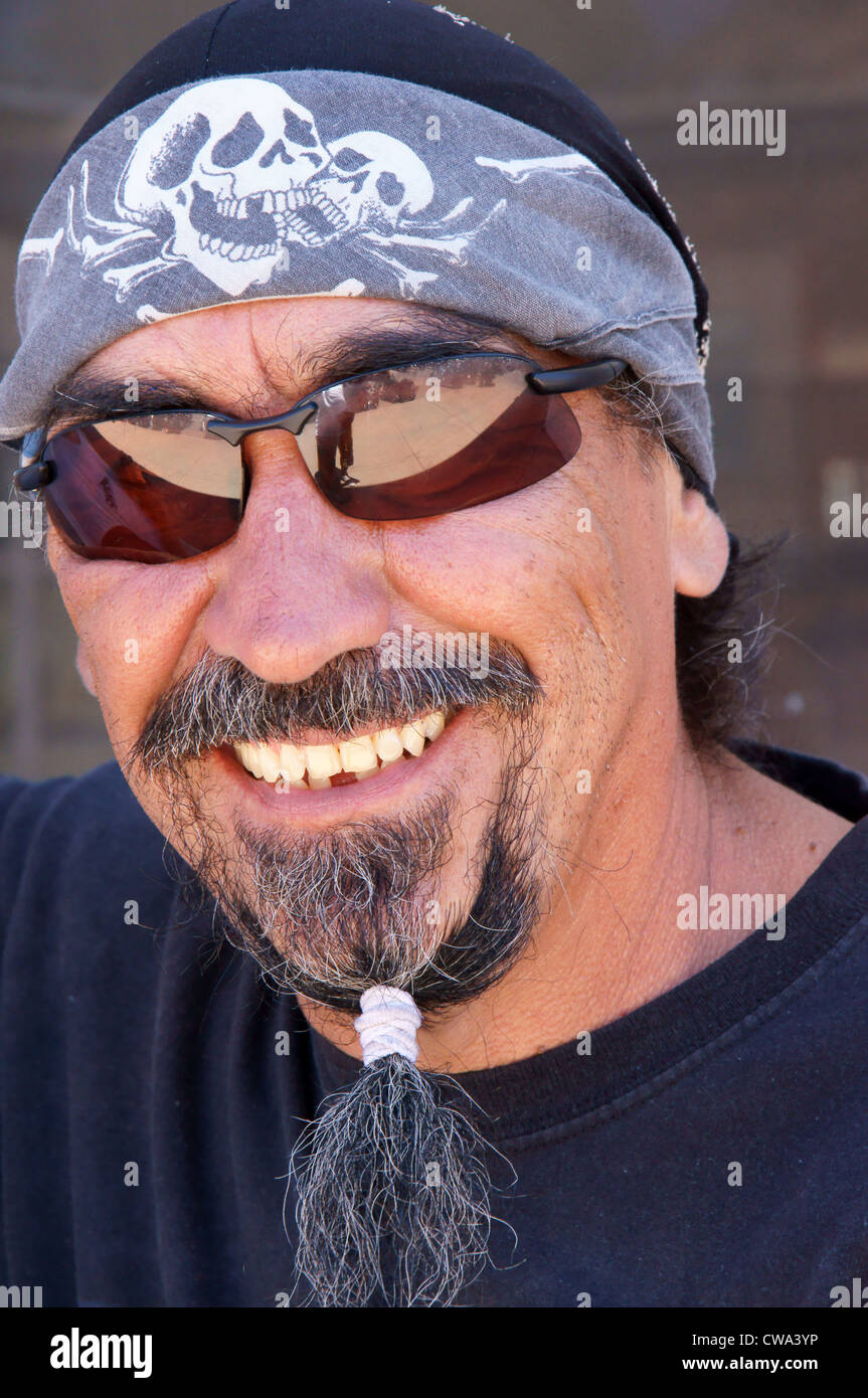 Biker Man Male With Beard Glasses Bandana Head Scarf
