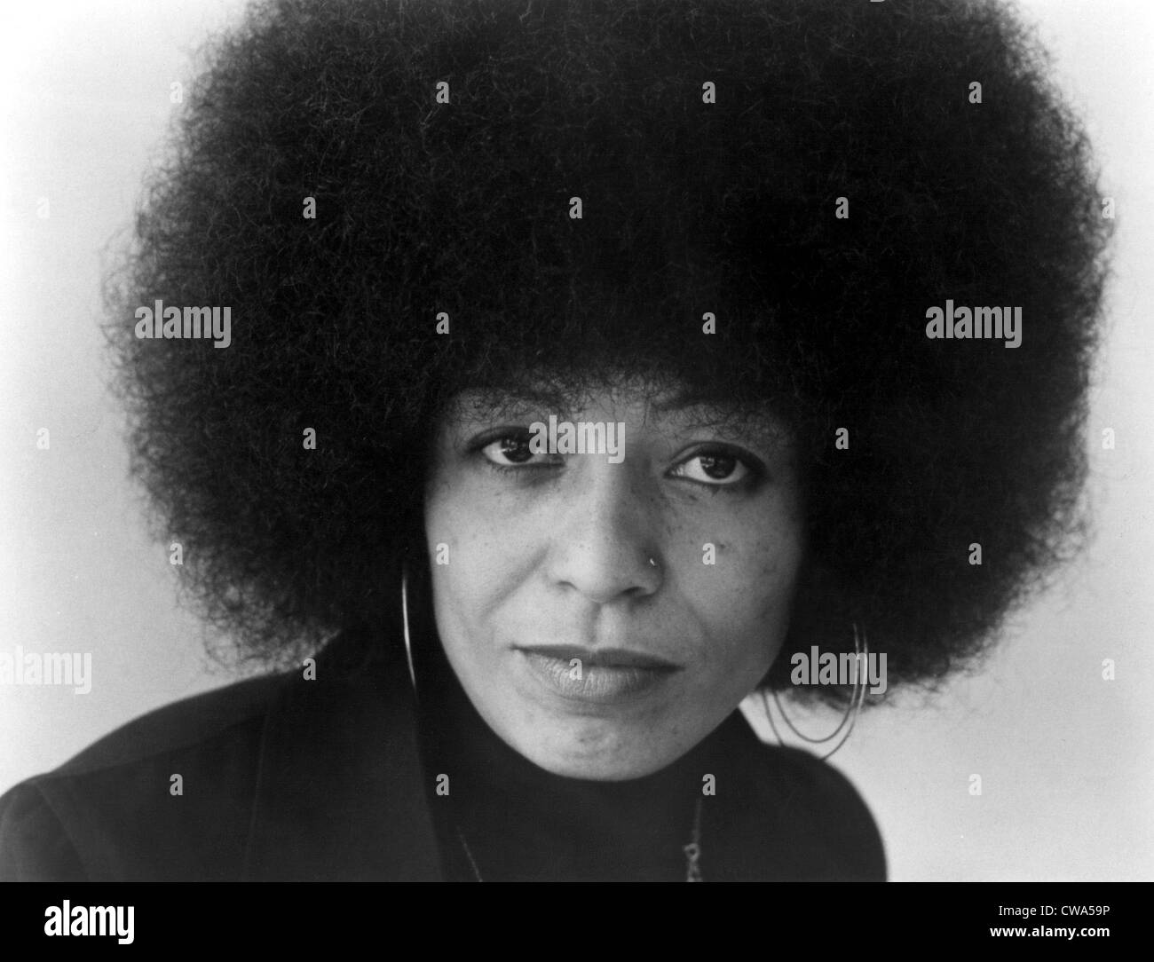 Angela Davis in 1975. Courtesy: CSU Archives / Everett Collection - Stock Image