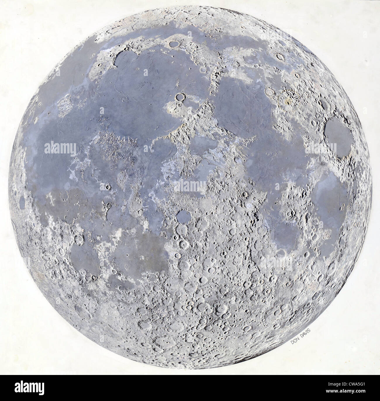 Map of the surface of Earth\'s Moon at the end of the Imbrian Period ...