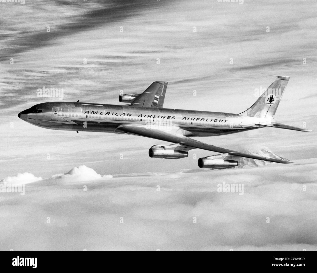 American Airline's Boeing Astrojet in flight, 1964. Courtesy: CSU Archives/Everett Collection - Stock Image