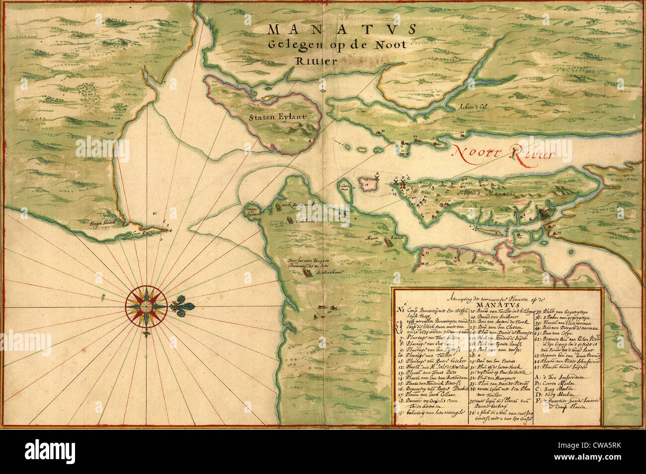 Map Of Manhattan And Bronx.New Amsterdam In 1639 Earliest Map Shows Manhattan Staten Island