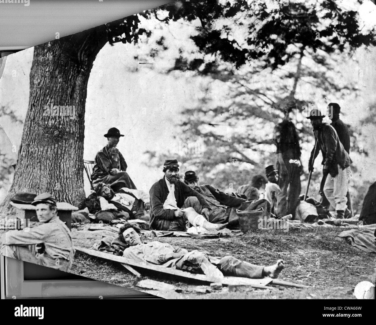 CIVIL WAR-Confederate soldiers.. Courtesy: CSU Archives / Everett Collection - Stock Image