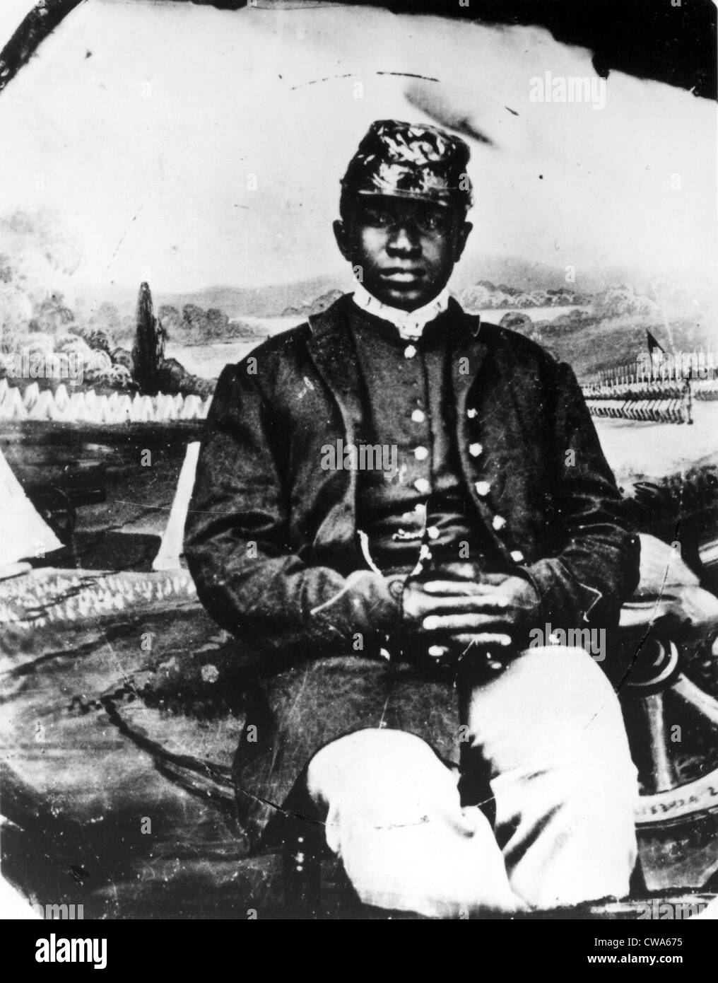 CIVIL WAR-Soldier in the 54th Infantry during the Civil War.. Courtesy: CSU Archives / Everett Collection - Stock Image