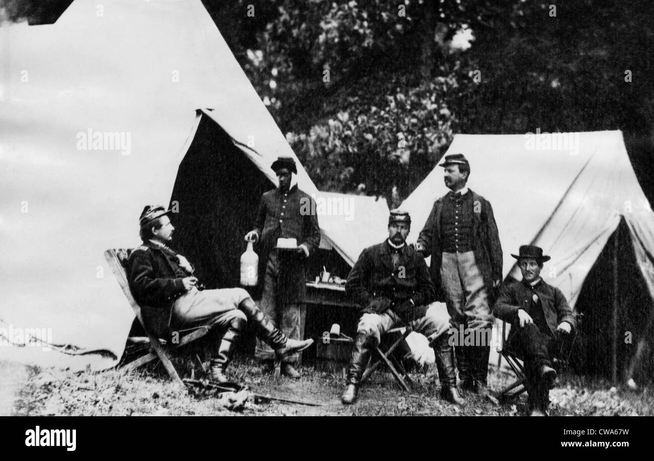 American Civil War: A group of Union officers, c. 1861.. Courtesy: CSU Archives / Everett Collection - Stock Image