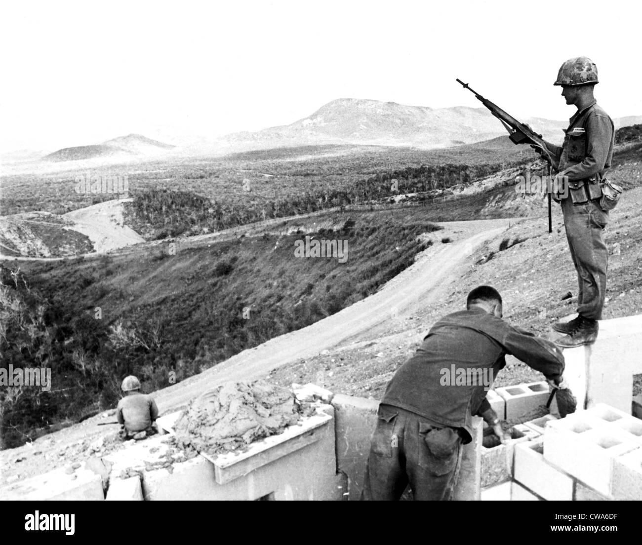 cuban missile crisis us marines fortifying suicide ridge at the guantanamo naval base