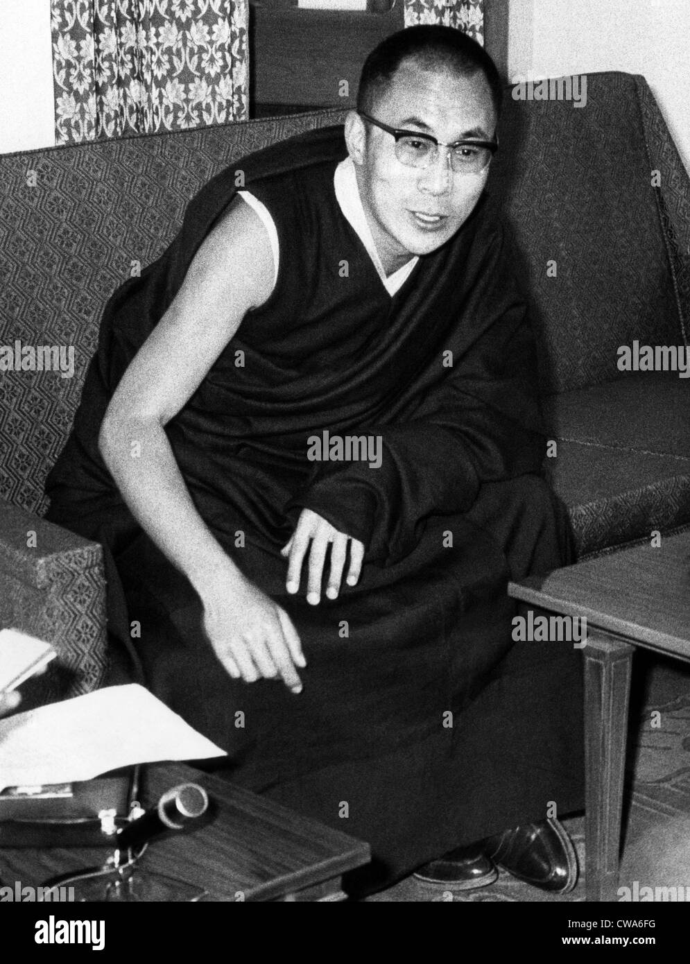 Dalai Lama, 1969. Courtesy: CSU Archives/Everett Collection - Stock Image
