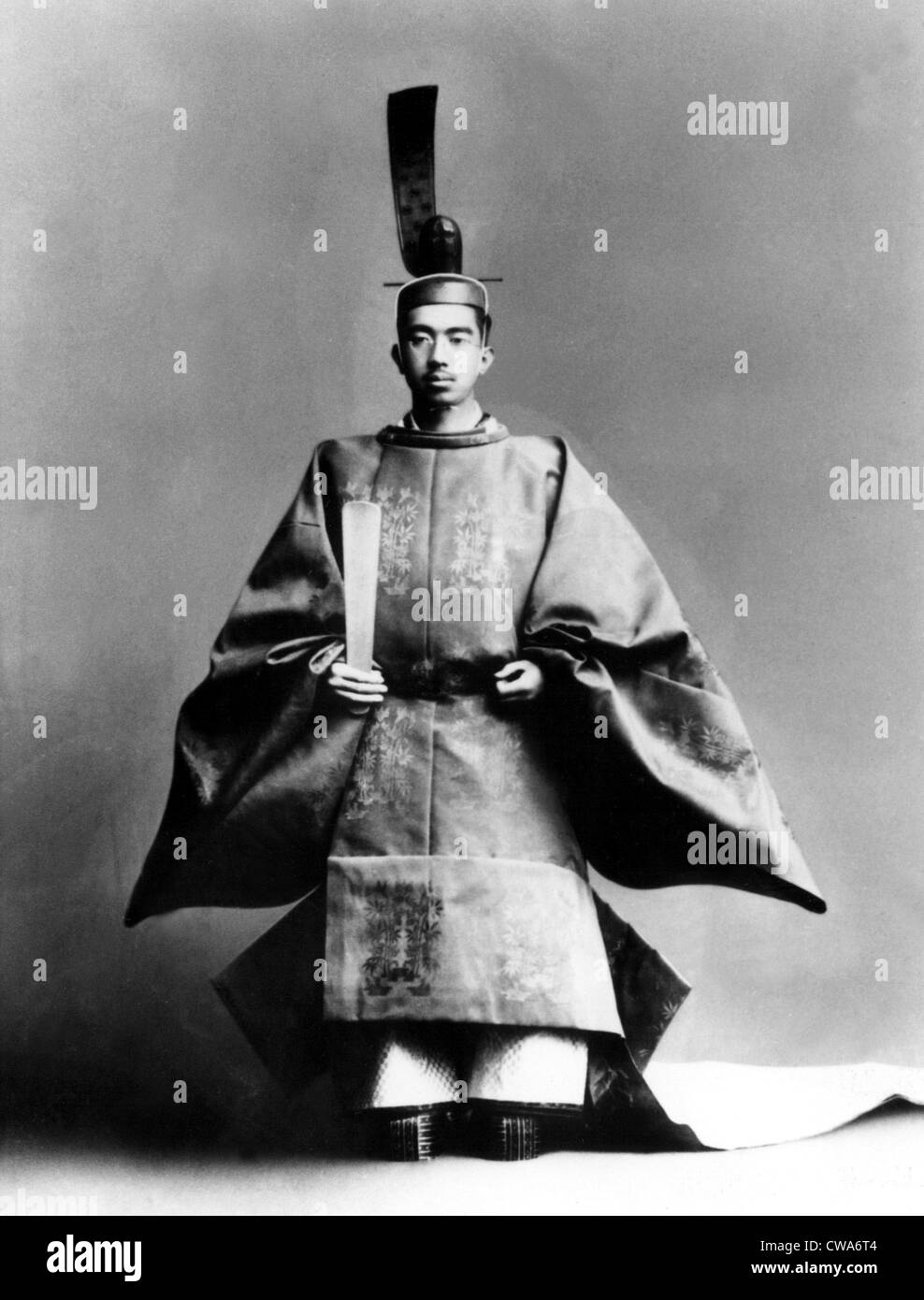 Emperor Hirohito dressed for his coronation ceremony in 1928.. Courtesy: CSU Archives / Everett Collection - Stock Image