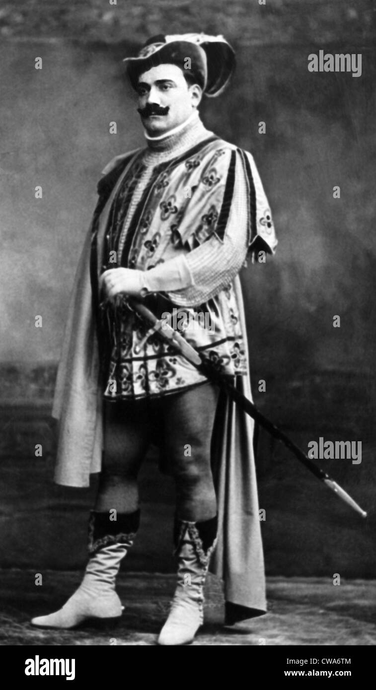 Enrico Caruso as he appeared in Il Trovatore, early 1900s. Courtesy: CSU Archives/Everett Collection - Stock Image