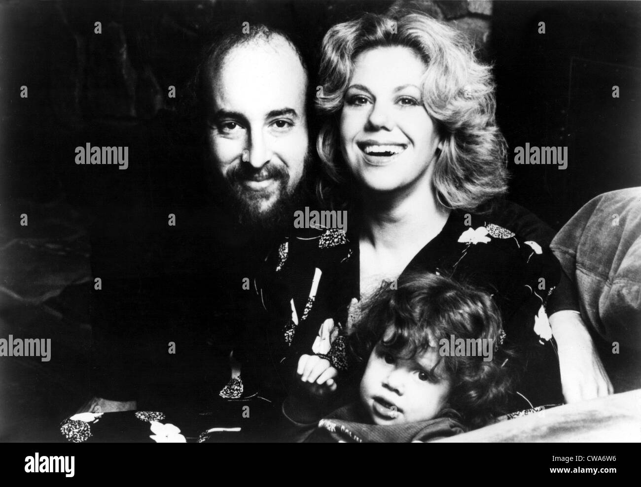 Erica Jong, author, and family--husband Jonathan Fast and daughter Molly. Courtesy: CSU Archives / Everett Collection - Stock Image