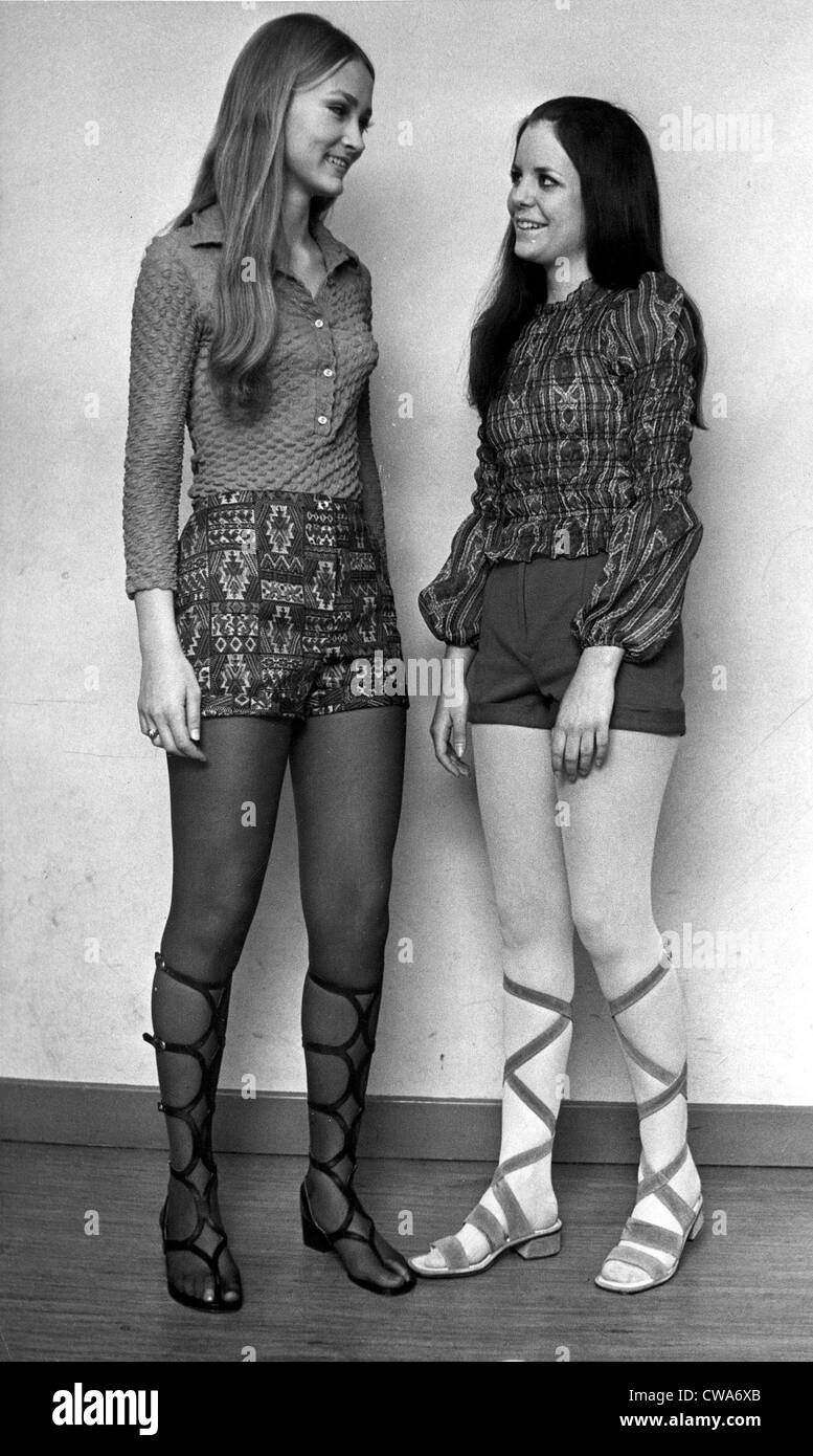 Fashion Women In Hot Pants Fashionable In The 70 S 1971 Courtesy