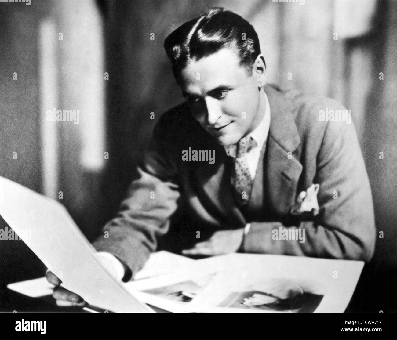 F. SCOTT FITZGERALD in the late 1920,s.. Courtesy: CSU Archives / Everett Collection - Stock Image