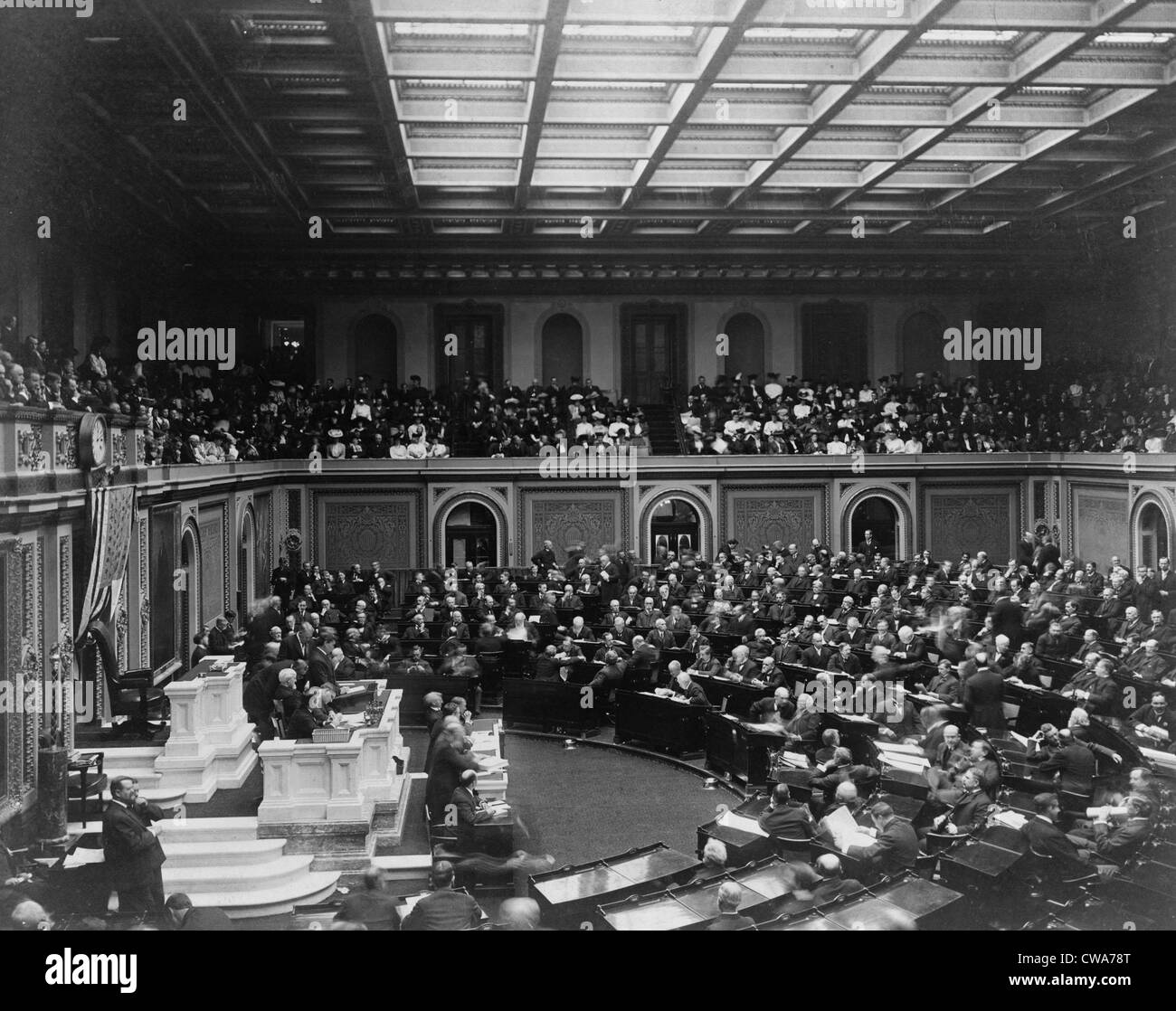 Opening of fifty-ninth Congress by   Cannon, Joseph Gurney Cannon (1836-1926) in 1906. - Stock Image