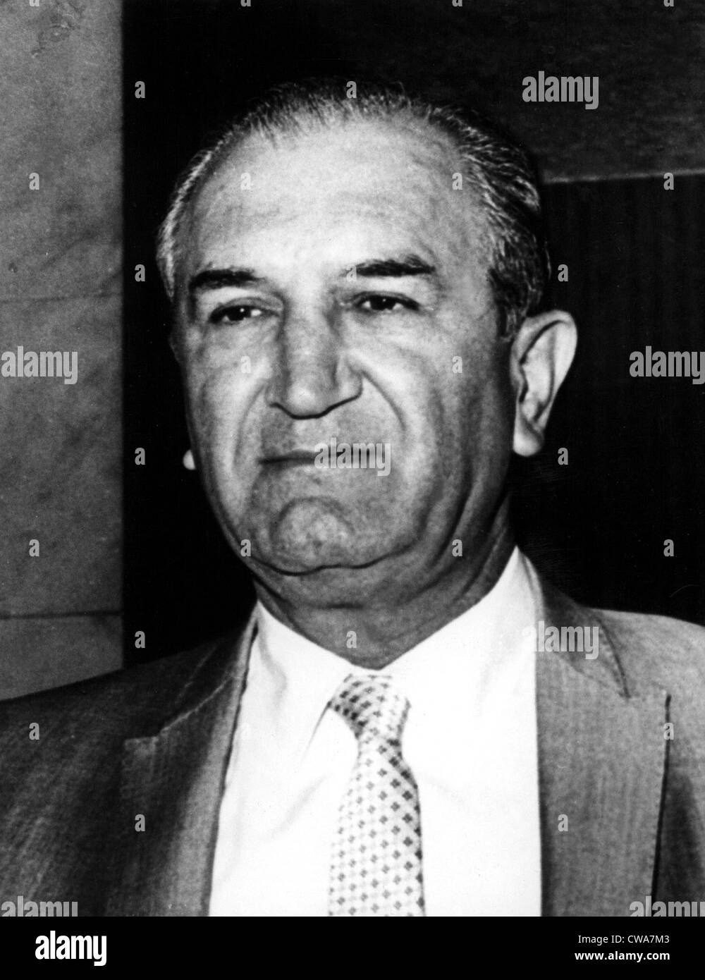 Joseph Bonanno, mobster, in the early 1970s.. Courtesy: CSU Archives / Everett Collection - Stock Image