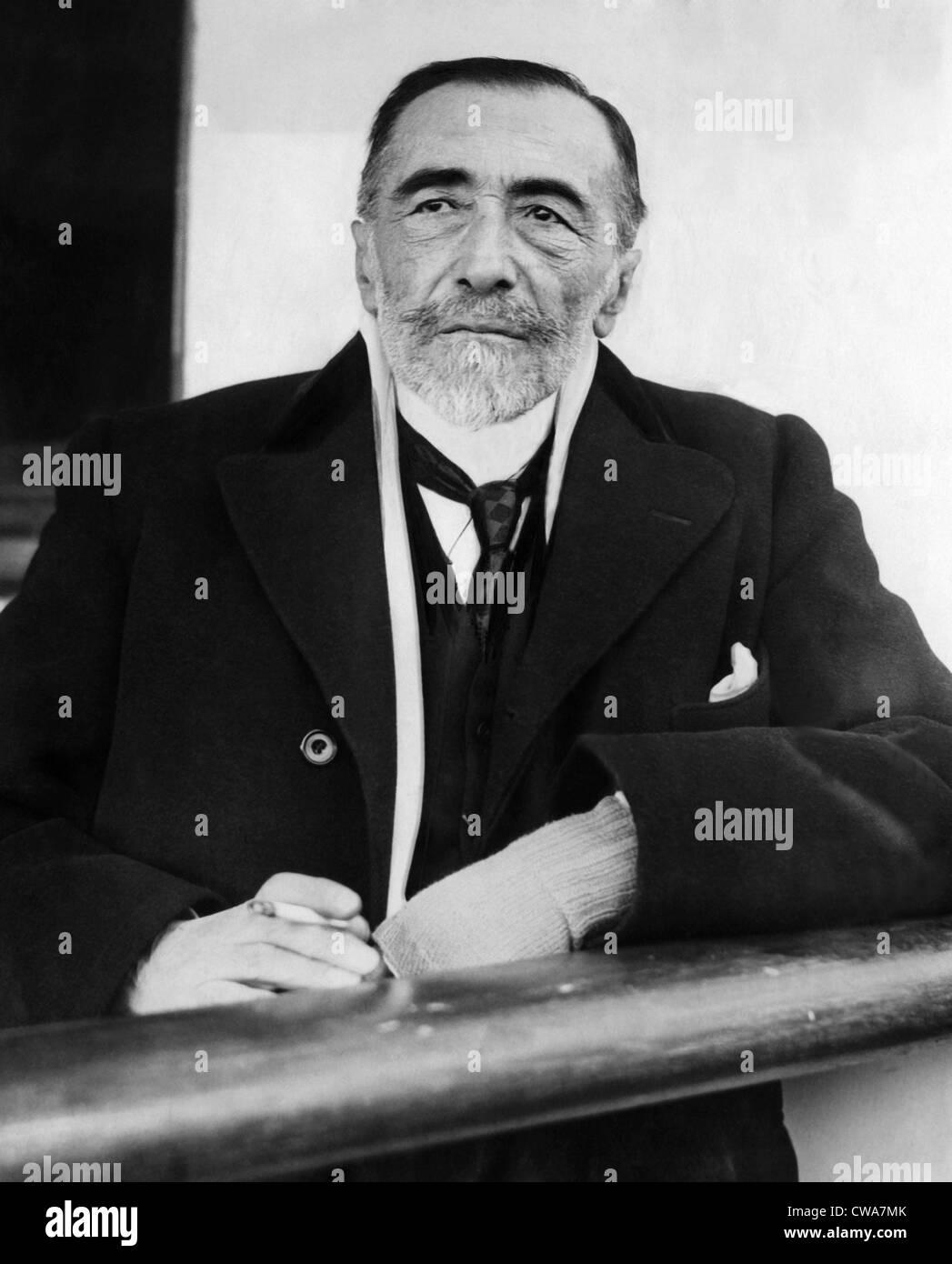 Joseph Conrad, 1923. Courtesy: CSU Archives/Everett Collection - Stock Image