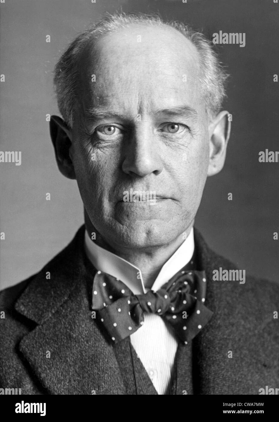 John Galsworthy, 65-year-old English author and playwright, was named winner of the 1932 Nobel Prize for literature, - Stock Image
